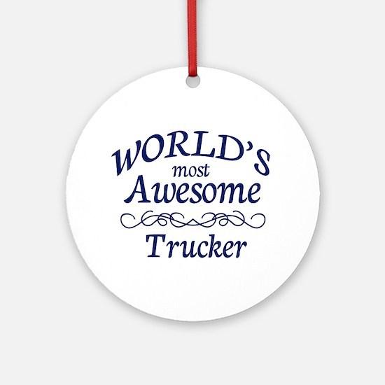Trucker Ornament (Round)