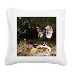 Wild Turkey Square Canvas Pillow