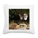 Wild Turkey Square Canvas Pillow