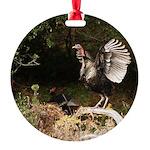 Wild Turkey Round Ornament