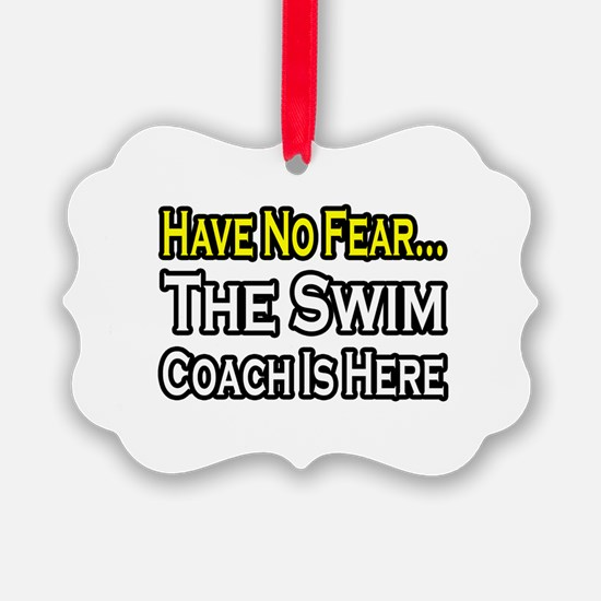 Cute Swim coach Ornament