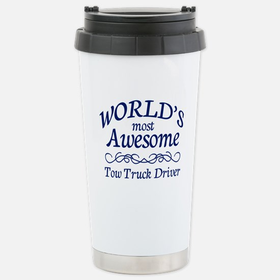 Tow Truck Driver Stainless Steel Travel Mug