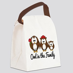 Owl in the Family Canvas Lunch Bag