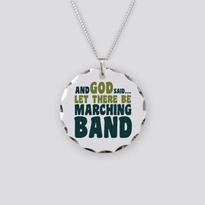 Let There Be Marching Band Necklace Circle Charm