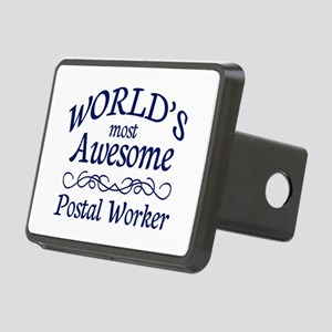 Postal Worker Rectangular Hitch Cover