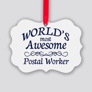 Postal Worker Picture Ornament