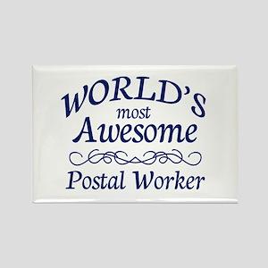 Postal Worker Rectangle Magnet