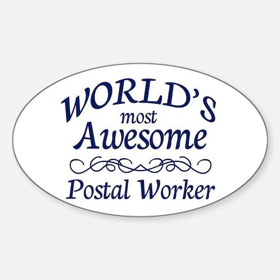 Postal Worker Sticker (Oval)