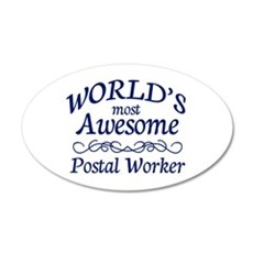 Postal Worker Wall Decal