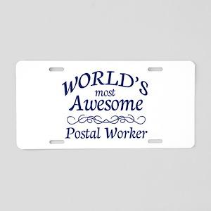 Postal Worker Aluminum License Plate