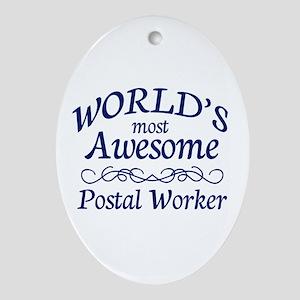 Postal Worker Ornament (Oval)