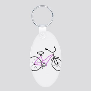 Bicycle Aluminum Oval Keychain