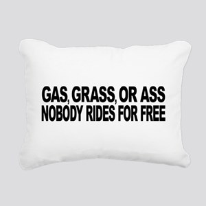 Gas, Grass, or Ass Rectangular Canvas Pillow