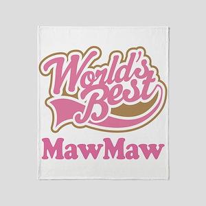 Worlds Best MawMaw Throw Blanket