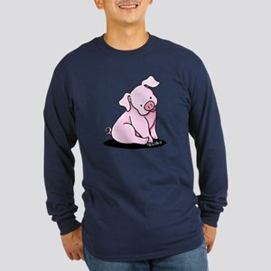 Pretty Little Piggy Long Sleeve Dark T-Shirt