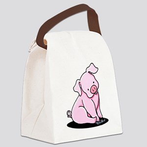 Pretty Little Piggy Canvas Lunch Bag