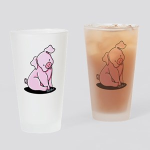 Sitting Pig Drinking Glass