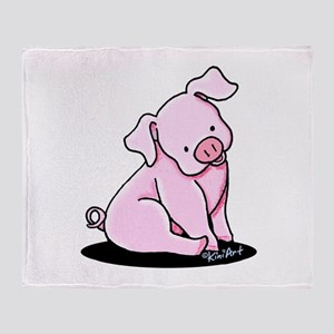 Pretty Little Piggy Throw Blanket