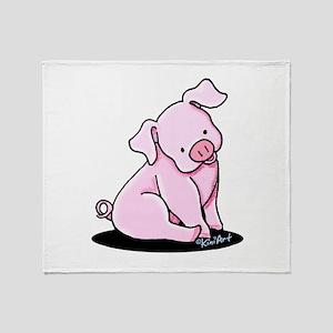 Sitting Pig Throw Blanket