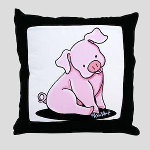 Pretty Little Piggy Throw Pillow