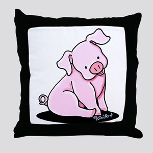 Sitting Pig Throw Pillow