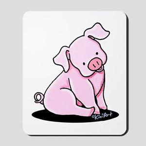 Pretty Little Piggy Mousepad