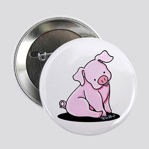 """Pretty Little Piggy 2.25"""" Button"""