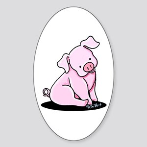Sitting Pig Sticker (Oval)