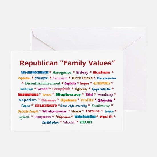 Republican Values Greeting Cards (Pk of 10)