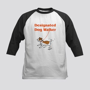 Designated Dog Walker Kids Baseball Jersey