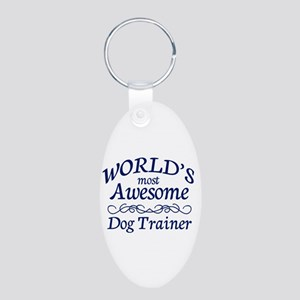 Dog Trainer Aluminum Oval Keychain