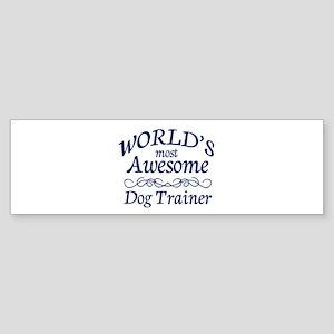 Dog Trainer Sticker (Bumper)