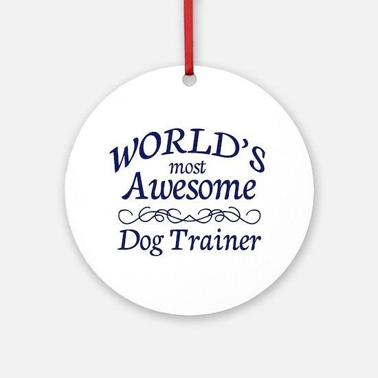 Dog Trainer Ornament (Round)