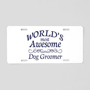 Dog Groomer Aluminum License Plate