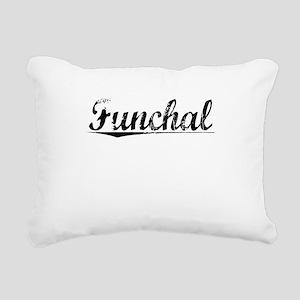 Funchal, Aged, Rectangular Canvas Pillow