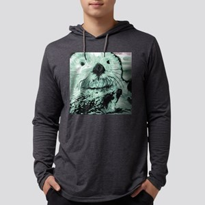 Sea Otter  Mens Hooded Shirt