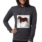Horse Cave Painting Womens Hooded Shirt