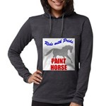 Paint Horse Pride Womens Hooded Shirt