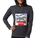 rwp-canadian-horse.tif Womens Hooded Shirt