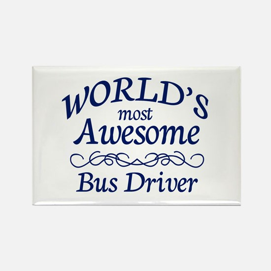 Bus Driver Rectangle Magnet (100 pack)