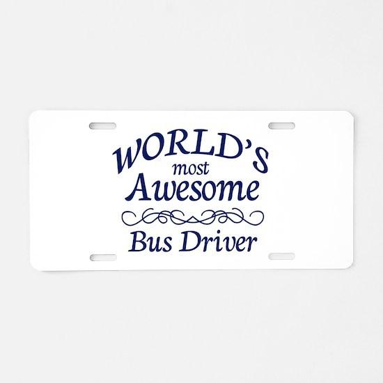Bus Driver Aluminum License Plate