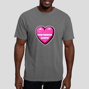 NEW-percheron-horse-heart Mens Comfort Colors