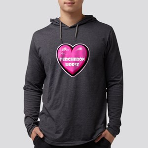 NEW-percheron-horse-heart Mens Hooded Shirt
