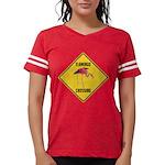 Flamingo Crossing Sign Womens Football Shirt