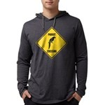 crossing-sign-parrot Mens Hooded Shirt