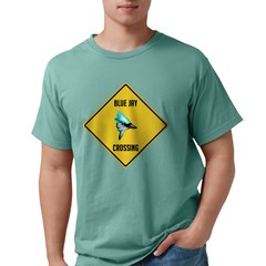 crossing-sign-blue-jay Mens Comfort Colors Shi
