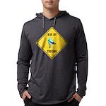 crossing-sign-blue-jay Mens Hooded Shirt