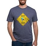 crossing-sign-blue-jay Mens Tri-blend T-Shirt