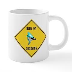 crossing-sign-blue-jay 20 oz Ceramic Mega Mug