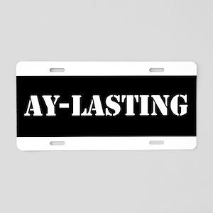 Ay-lasting Aluminum License Plate
